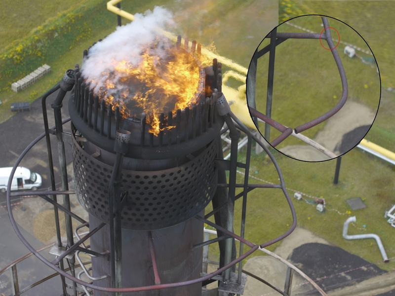 Drone Photo Inspection Flare Tip Vent Stack Oil Gas