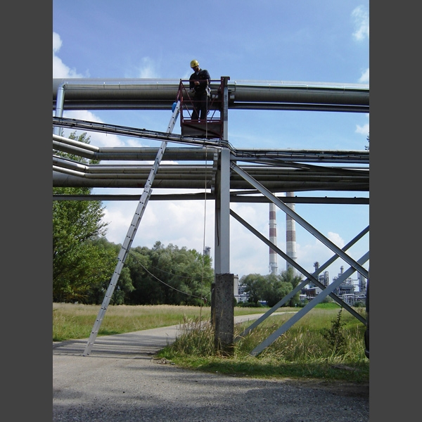 Work at heights Industrial climbing Special scaffold Spherical tank
